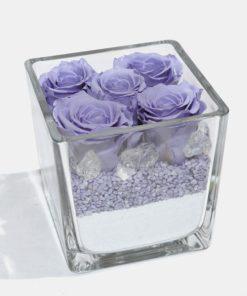 Rose stabilizzate con vaso di vetro o porcellana